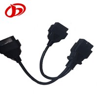 Wholesale NEW cm ODB2 ODB II Splitter Extension Y J1962 Pin Cable Male to Dual Female
