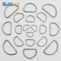 Wholesale 100pcs quot quot quot quot quot Nickel Plated D Ring Semi Ring Ribbon Clasp Knapsack Belt Buckle