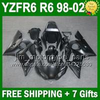 Wholesale 7gifts Flat Black For YAMAHA YZFR6 YZF R6 YZF600 J9212 YZF YZF R6 ALL Matte black Fairing