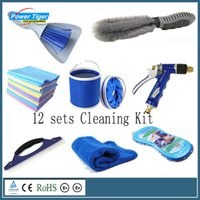 Wholesale 12 sets of washing kit car washing kit car tire scrub brush removal beauty sponge towel Squeegee