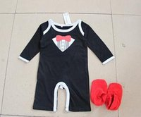 used clothing - In the spring of the new children s gentleman ha clothing bag used for travel set foot Baby romper suit climbing yt2669