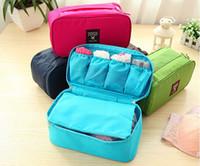 plain clothing - 2015 NEW Outdoor Travel Bag Pouch Clothes Accessories Case Insert Handbag Underwear Bra Storage Waterproof Toiletry Kits organizer LB9