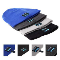 Wholesale Best Price Bluetooth Music Hat Soft Warm Beanie Cap with Stereo Headphone Headset Speaker Wireless Microphone DHL