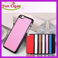 Wholesale Carbon Fiber Leather Electroplate Grain Luxury Chrome Hard Back Case Cover For iphone6 quot