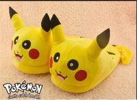 Wholesale cm Pikachu Children Slippers Indoor Slipper Plush Doll Toys cartoon slippers