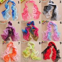 Wholesale Cheap Colorful Women s Scarves Chiffon Infinity Stylish Scarf Girl s Pashmina Shawl Wrap Lady s Long Neckerchief White Purple Red Pink