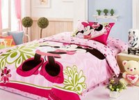 baby comforter knitted - Good Quaily pink queen bed comforter sets Full Queen size bedding home textile Cotton Bedding Sets baby minnie mouse bedding