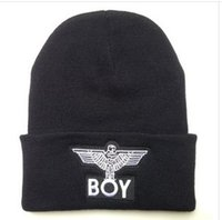 beach resorts china - Winter New BOY LONDON Eagles Knitted Wool Cap Fashion Embroidered Black Warm Hat For Boy Girls Beanies style made china