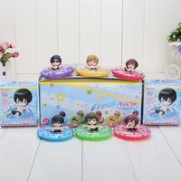 anime rei - 5cm set Anime Haruka Nanase Makoto Tachibana Nagisa Hazuki Rin Matsuoka Rei Ryugazaki PVC Action Figure Toys