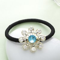 Wholesale 2015 New Bridal Hair Accessories Wedding Fashion European Style Black Leather Hair Band Ornaments Accessories Sunflowers Diamond Jewelry