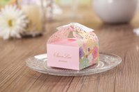 Wholesale Colorful Floral Laser Cut Candy Box Wedding Favors Designer Box