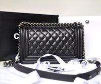 Wholesale Women Genuine Leather Bag Classic Plaid Chain Women Messenger Bags Top Designer Crossbody Shoulder Bags for women