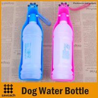 Wholesale Dog Water Bottle Travel Bowl ml Portable Outdoor Water Drinking Bottle Pet Drinking Bowl For Cats Dog Colors New Arrival