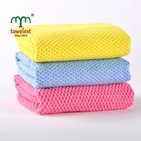 waffle towels - New Microfiber towel waffle weave kitchen towel dishcloth set x35cm small towels Glass cleaning cloth Wipes
