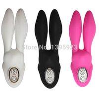 Wholesale 1 Big Rabbit Ear Nipple Vagina Clitoris Massager Vibrator Sexy Adult Vibrator Sexy Toys Colors