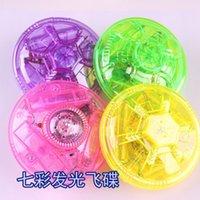 Wholesale Toy gyro electric drift top UFO flashing music top luminous flying saucer gyroscope