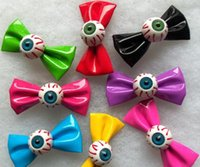 band folders - Fun Bow Eye Hairpin Headband Side knotted Hair Jewelry Bloodshot Eyeball Bow Hair Band Hairpin Clip Side Folder Hair Accessories