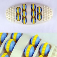 Wholesale 12pcs Oval Foot Roller Massager Relaxation Foot Points Massage Health Tool HH108