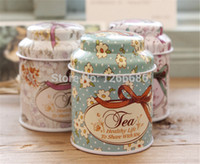 Wholesale 500pcs Vintage Floral Tea caddy candy storage case mini Tin Storage box