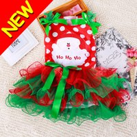 Wholesale New Novelty Cute Cartoon Baby Girls Dot Bow Tutu Dresses Dress Outfits Party Best Xmas Christmas