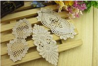 Wholesale 20pcs Clothing accessories water soluble lace fabric DIY handmade jewelry hairpin lace material sewing accessories
