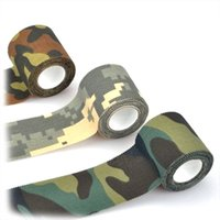 adventure survival equipment - Colors Camouflage Tape Stretchable Army Bandage Outdoor Survival Jungle Adventure Tool Wrap Hunting Tapes Tactical Equipment