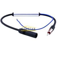 Precio de Car antenna amplifier-Radio estéreo del coche 12V Antena FM AM InLine señal Amp amplificador incorporado Booster Mejorador de ajuste para la mayoría de los coches