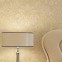 glitter wallpaper - High Quality M Embossed Damask Non Woven Flocking Glittering Breath Wallpaper Wall Paper Roll For Living Room Bedroom