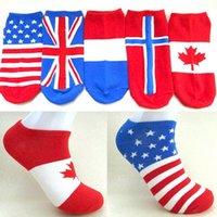 australian slippers - 2015 Cheap Men s national flag style socks summer stealth ship socks for Men Australian Norway CW17