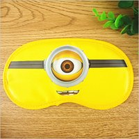 baby sleep mask - baby Despicable Me goggles Safeguard minnion eyeshade cartoon sleeping Eye Mask kids sleep masks cute Minions Blindfold Eye patch BBA3816