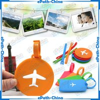 Wholesale Silicone Suitcase Hangtag PVC Travel Luggage Tag Baggage Tags Label Name Address ID Holder Hangtag
