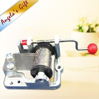 Wholesale Hand Crank music box movements diy musical box mechanism christmas birthday gifts wedding souvenir gift
