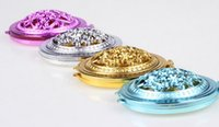 Wholesale 120pcs High quality Veins colorful girl cosmetic pocket compact stainless makeup mirror small