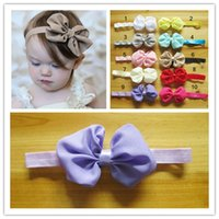 Cheap 60pcs newborn baby hair accessory Holiday girl head accessories baby flower headband chiffon bows snapback head band bowknot hair headband