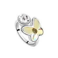 Mexican fashion rings - Clover create color stone fashion ring K silver wedding rings from the elements with crystal Austrian crystal jewelry sets available