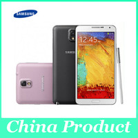 Wholesale 5 Original Samsung Galaxy note Android LTE WCDMA Quad Core G G P Quad Core Unlocked refurbished phone