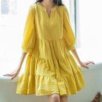 Wholesale Pregnant women dress summer new loose big yards long section pregnant women dress YF099