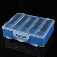 Wholesale 10 Compartments Fishing Box Double Sided Transparent Visible Plastic Fly Fishing Explosion Hook Set Tackle Box