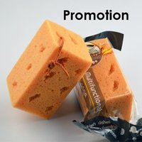 Wholesale 1 x Promotional Mini Yellow Honeycomb Coralline Car Washing Cleaning Sponge Block order lt no track