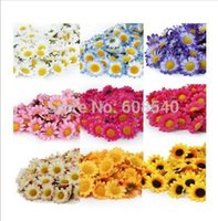 Wholesale 50Pcs Artificial Gerbera Daisy Silk Flowers Heads For DIY Wedding Party Decorations Z259
