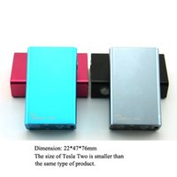 Wholesale Authentic Tesla Two W Box Mod mah battery huge vapor box VS sigelei W Plus Ipv4 IPV mini w smy bacchus Free DHL