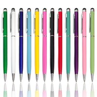 Wholesale High Quality mini metal capacitive touch pen stylus screen for phone tablet laptop built in ballpoint pen in