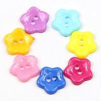 Wholesale FS Hot mm Mixed Color Plum Flower Resin Buttons Sewing Accessories order lt no track