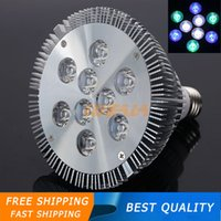 Wholesale New E27 W W coral reefs and fishes Aquarium LED Lighting Blue and Cool white color green