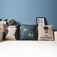 bamboo bad - Cushion Set TV U S Drama Breaking Bad Linen Cotton Pillow Case Sofa Decorative Pillow Covers Couch Pillowcase Home decor
