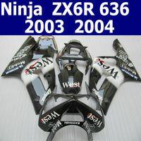 kawasaki zx6r fairings - Hot sale body kit for kawasaki ZX6R fairings black white Ninja ZX R fairing kit ZV1