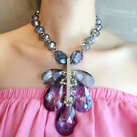 statement necklace - YAL Jewelry Crystal Resin Pendants Exaggerated Necklaces New Arrival Charm Statement Necklace For Women Newest Fashion Choker Jewelry
