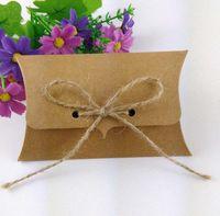 Wholesale Kraft paper gift box mm Pillow Box Kraft Box Jewelry Box Handmade Gift Box Custom Logo Box