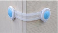 Wholesale cabinet lock Baby Safe Lock Protection Child Safety Cabinet Lock blue and pink Color Baby Safety Products