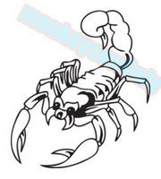 Wholesale car decals stickers scorpion cm x cm car motorcycle applique car motorcycle waterproof vinyl decals
